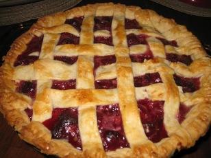 cherry pie with lattice crust