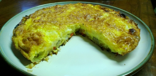 frittata (with sausage, peppers, onion and fontina)