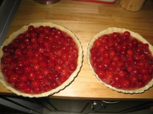 unbaked cherry tarts