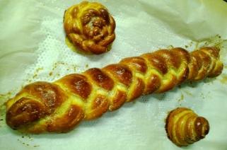 pretzel twist bread and rolls