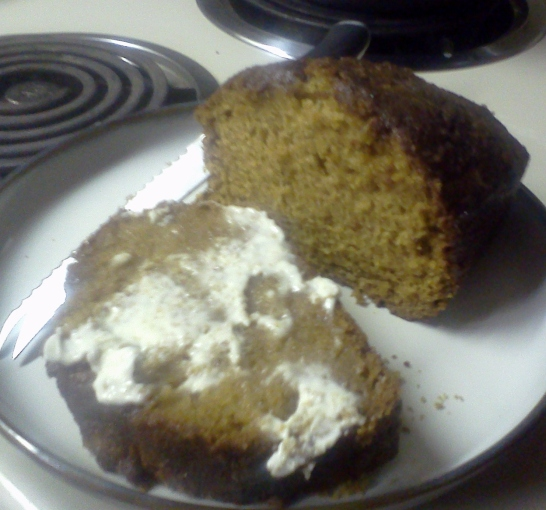 buttered pumpkin bread