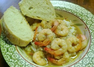 dipping shrimp with spicy broth (inspired by Bubba Gump Shrimp Company)