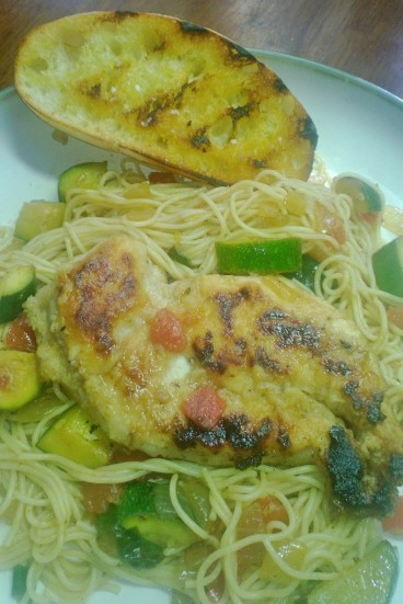lemon chicken with grilled ciabatta