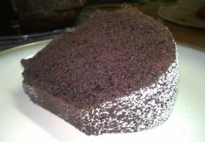 chocolate bundt cake slice