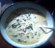 """""""zuppa""""- my version of olive graden's delicious sausage and kale soup"""