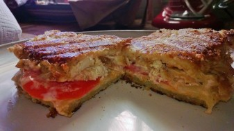 spicy chicken ranch panini