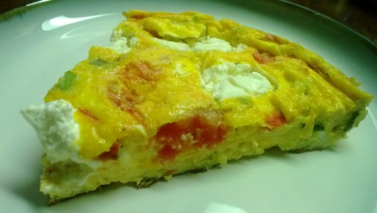 tomato, scallion and sour cream frittata