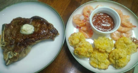 surf, turf and biscuits