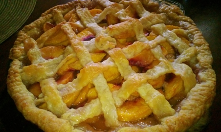 Peach Pie with Cream Cheese Crust