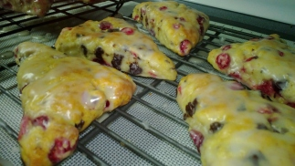 Cranberry Dark Chocolate Scones