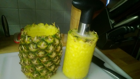 I recommend one of these easy pineapple slicers!