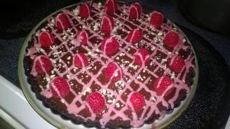 Dark Chocolate Raspberry Cheesecake Tart