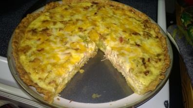 PULLED PORK AND CARAMELIZED ONION QUICHE