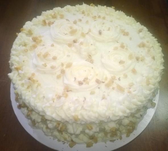 Banana Walnut Cake Cheesecake