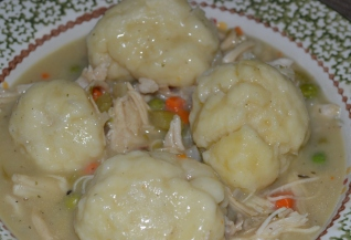 TURKEY (OR CHICKEN) AND DUMPLINGS