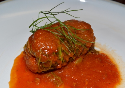 BRAISED CABBAGE ROLLS WITH ITALIAN SAUSAGE AND FENNEL
