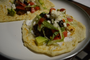 BEEF TACOS WITH HOMEMADE FLOUR TORTILLAS