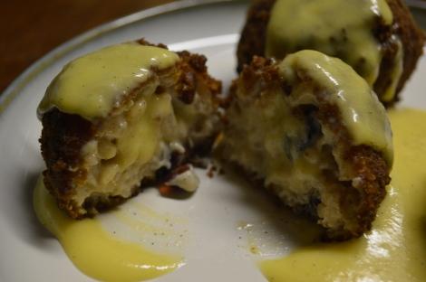 Rice Pudding Arancini With Creme Anglaise