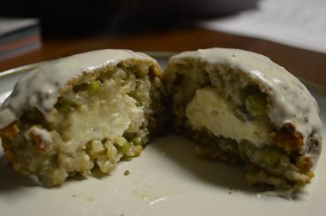 Mushroom and Pea Arancini