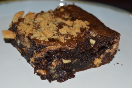 CHEWY PEANUT BUTTER AND WHITE CHOCOLATE BROWNIES