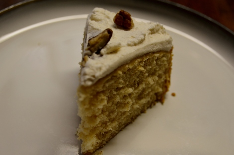 I cut this piece before drizzling with caramel. Still delicious!