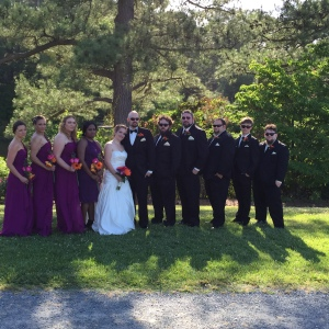 Wedding party! Yup I was a bridesmaid too!