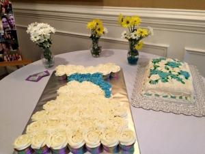 bridal shower cupcake dress 42715